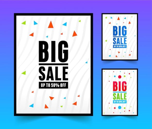 Plantilla de diseño de carteles de gran venta