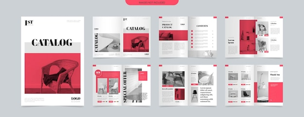Plantilla de diseño de catálogo de productos a4 moderno