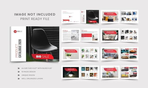 Plantilla de diseño de catálogo de productos de la empresa