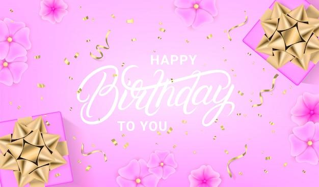 Plantilla de diseño de celebración de feliz cumpleaños.