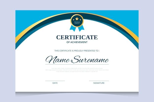 Plantilla de diseño de certificado de diploma abstracto