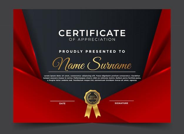 Plantilla de diseño de certificado de diploma de premio moderno