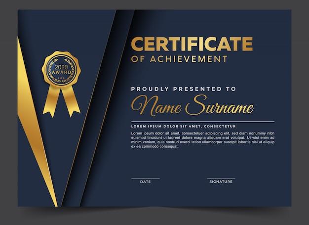 Plantilla de diseño de certificado elegante