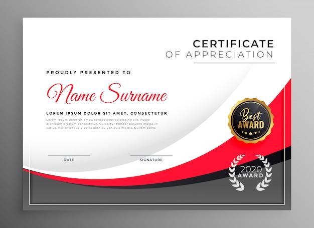 Plantilla de diseño de certificado de éxito profesional