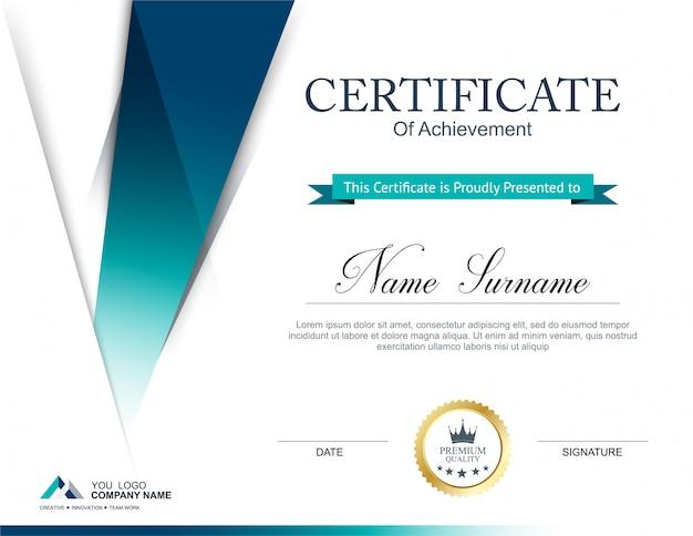 Plantilla de diseño de certificado