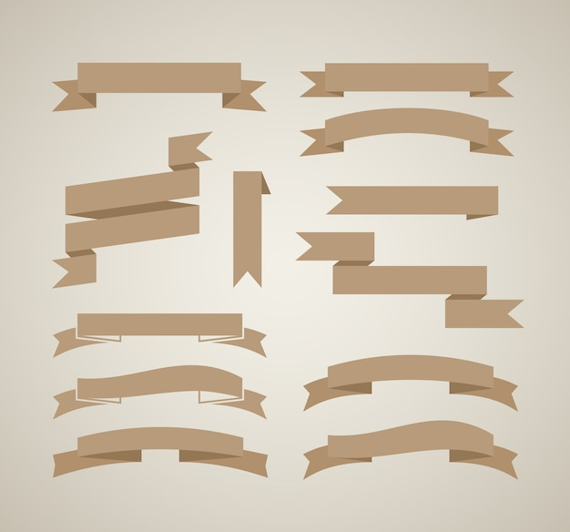 Plantilla de diseño de cintas vector vintage en estilo retro