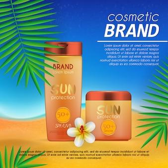 Plantilla de diseño cosmético de verano