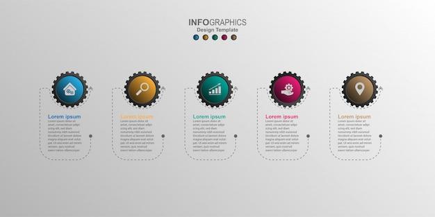 Plantilla de diseño creativo de infografía