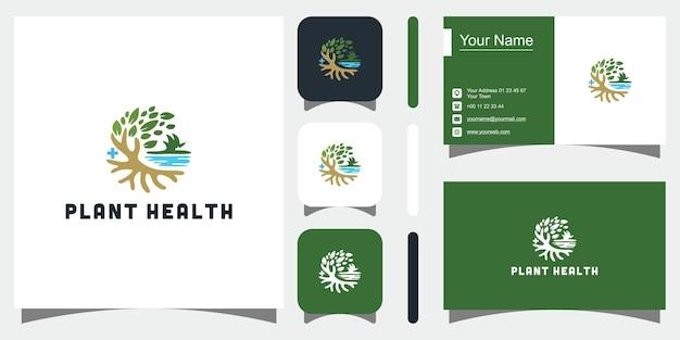 Plantilla de diseño de crecimiento simple y elegante minimalista de naturalezadiseño de logotipotarjeta de visita