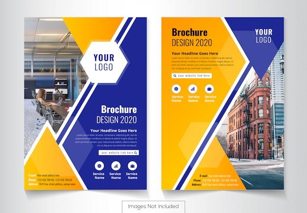 Plantilla de diseño de cubierta de folleto de negocio corporativo