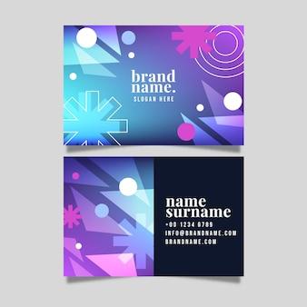 Plantilla de diseño degradado moderno de tarjeta de visita