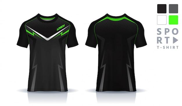 Plantilla de diseño deportivo de camiseta, maqueta de camiseta de fútbol para club de fútbol. vista frontal y posterior uniforme.