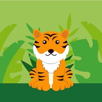 Plantilla de diseño del día internacional del tigre