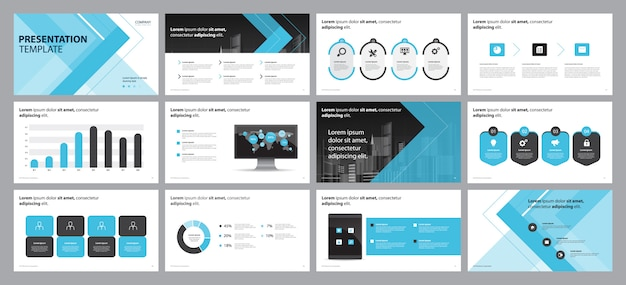 Plantilla de diseño de diseño de diapositiva de presentación comercial