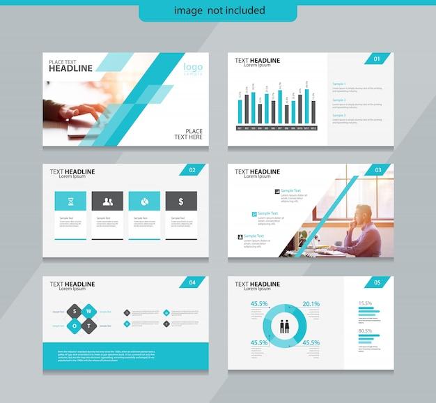 Plantilla de diseño de diseño de diapositiva de presentación con diseño de elementos de infografía