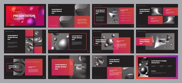 Plantilla de diseño de diseño de presentación de negocios
