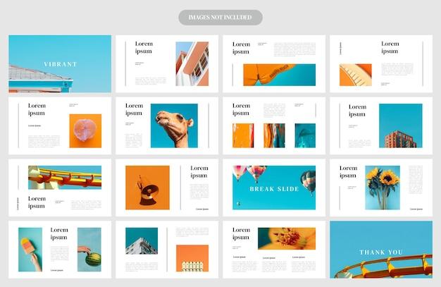 Plantilla de diseño de diseño de presentación vibrante