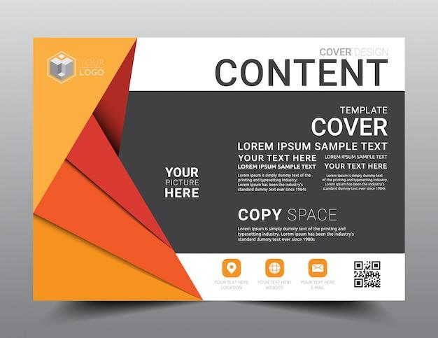 Plantilla de diseño de diseño de presentación.