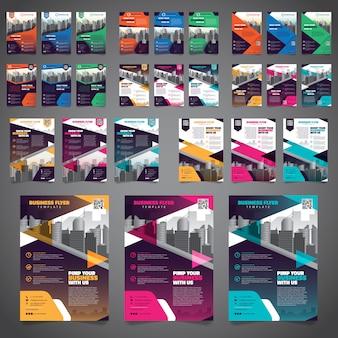 Plantilla de diseño de diseño de volante de folleto de 27 paquetes de negocios