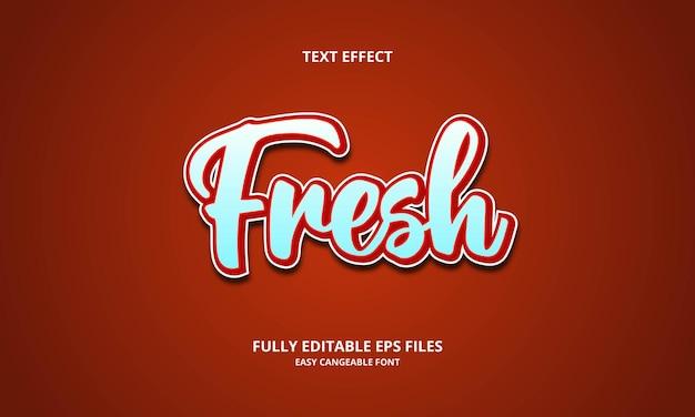 Plantilla de diseño de efecto de texto fresco