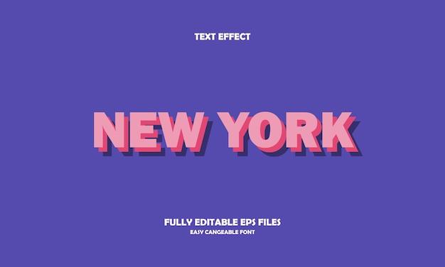 Plantilla de diseño de efecto de texto de nueva york