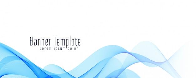 Plantilla de diseño elegante abstracto banner ondulado