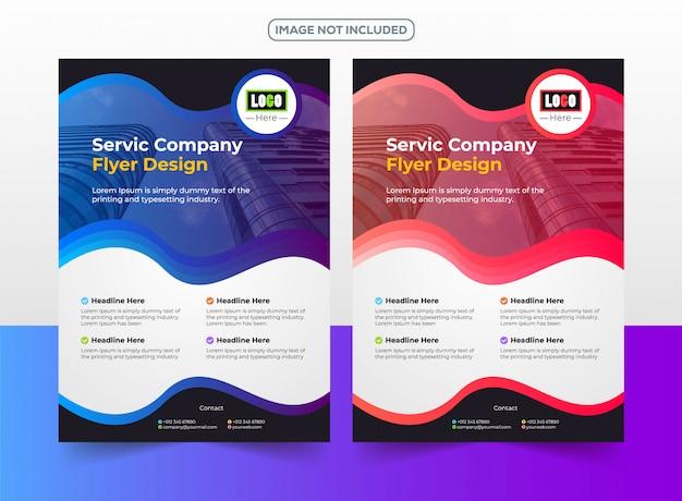 Plantilla de diseño de empresa de negocios flyer