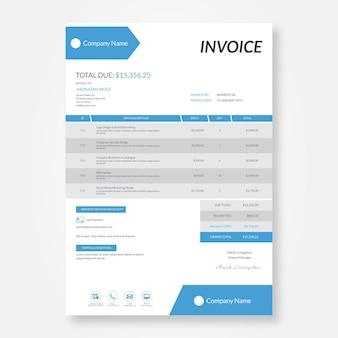 Plantilla de diseño de factura profesional
