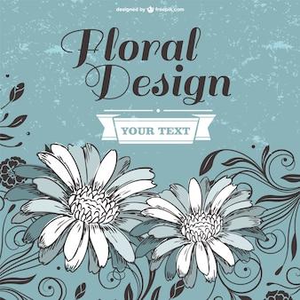 Plantilla con diseño de flores