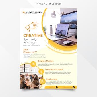 Plantilla de diseño de flyer de agencia creativa abstracta