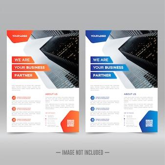 Plantilla de diseño de flyer corporativo