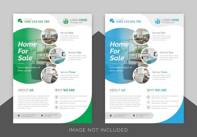 Plantilla de diseño de flyer inmobiliario