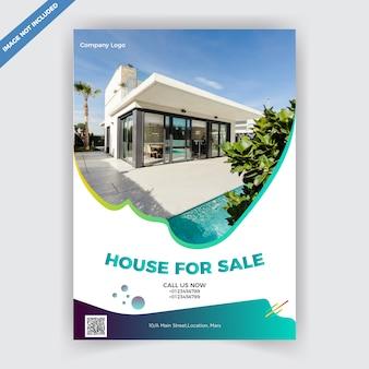 Plantilla de diseño de folleto de bienes raíces