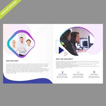 Plantilla de diseño de folleto bifold
