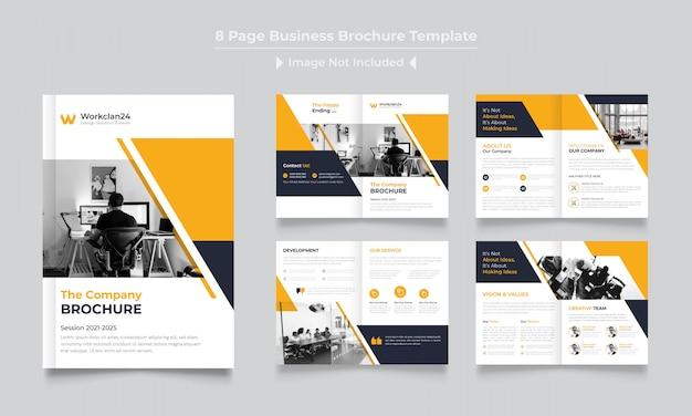 Plantilla de diseño de folleto corporativo de páginas