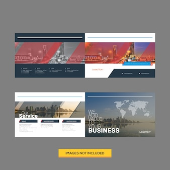 Plantilla de diseño de folleto corporativo