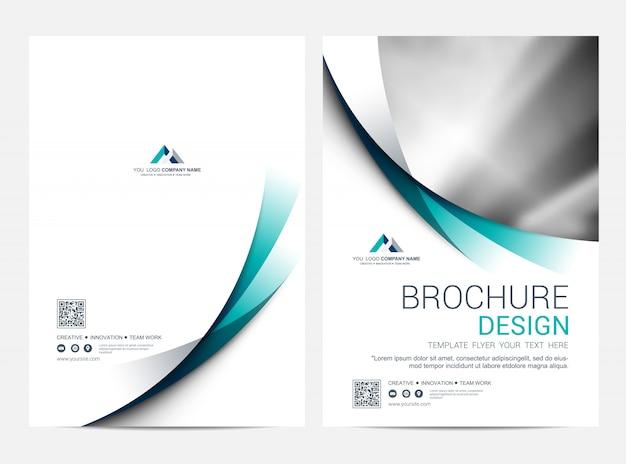 Plantilla de diseño de folleto, diseño de portada