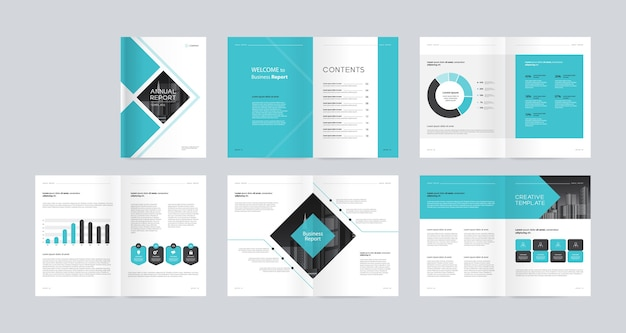 Plantilla de diseño de folleto de empresa comercial