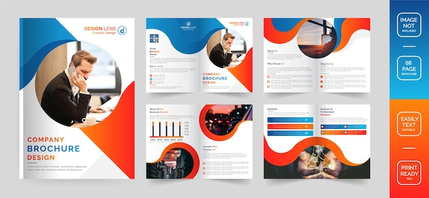 Plantilla de diseño de folleto de empresa corporativa