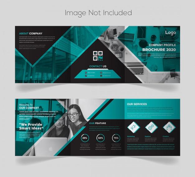 Plantilla de diseño de folleto de empresa cuadrada moderna