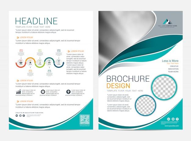 Plantilla de diseño de folleto, fondo de diseño de portada de folleto