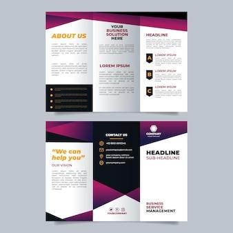 Plantilla de diseño de folleto de marca de empresa