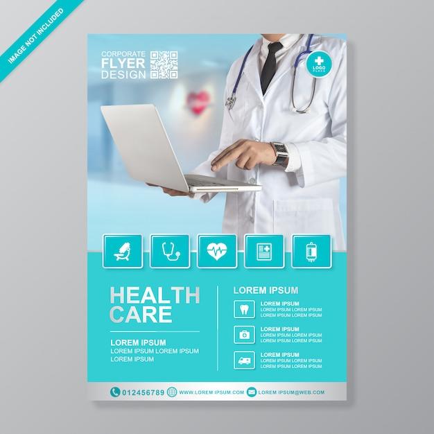 Plantilla de diseño de folleto médico y salud