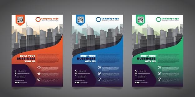 Plantilla de diseño de folleto de negocios corporativos