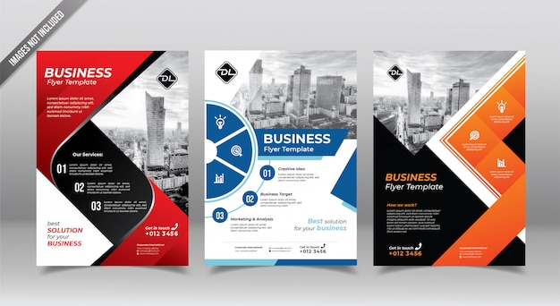Plantilla de diseño de folleto o folleto de negocios corporativos.
