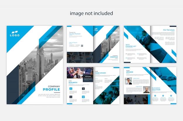 Plantilla de diseño de folleto de perfil de empresa moderna