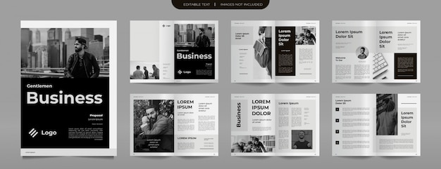 Plantilla de diseño de folleto de perfil empresarial