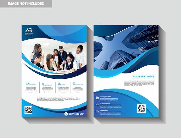 Plantilla de diseño de folleto de portada moderna folleto de libro de negocios de fondo de la ciudad