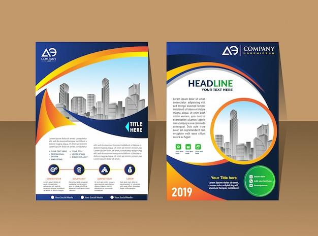 Plantilla de diseño de folleto de portada
