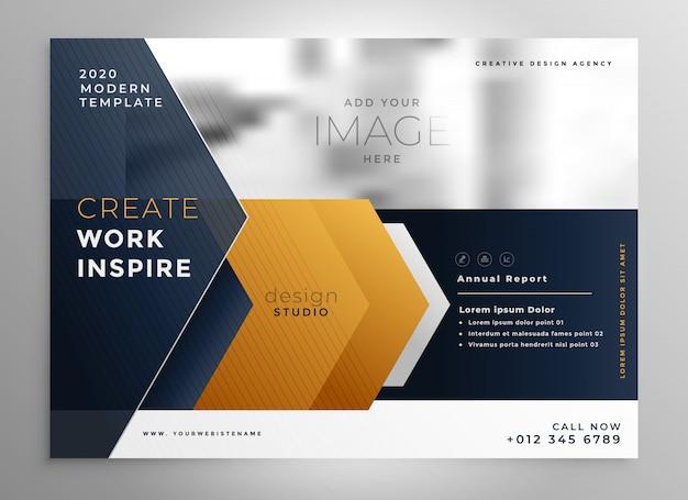 Plantilla de diseño de folleto profesional abstracto